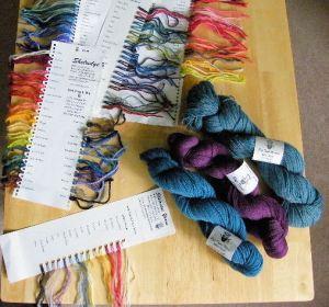 Shelridge Farm Yarns and colour cards